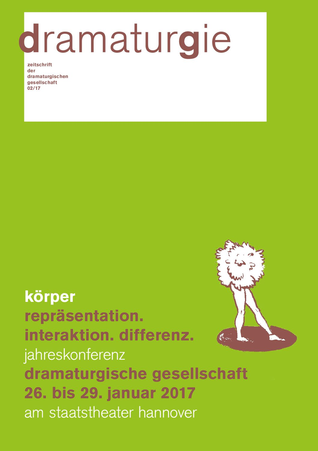 Thumbnail zum PDF: Dramaturgie 2017/2<br /> Körper. Repräsentation. Interaktion. Differenz<br />
