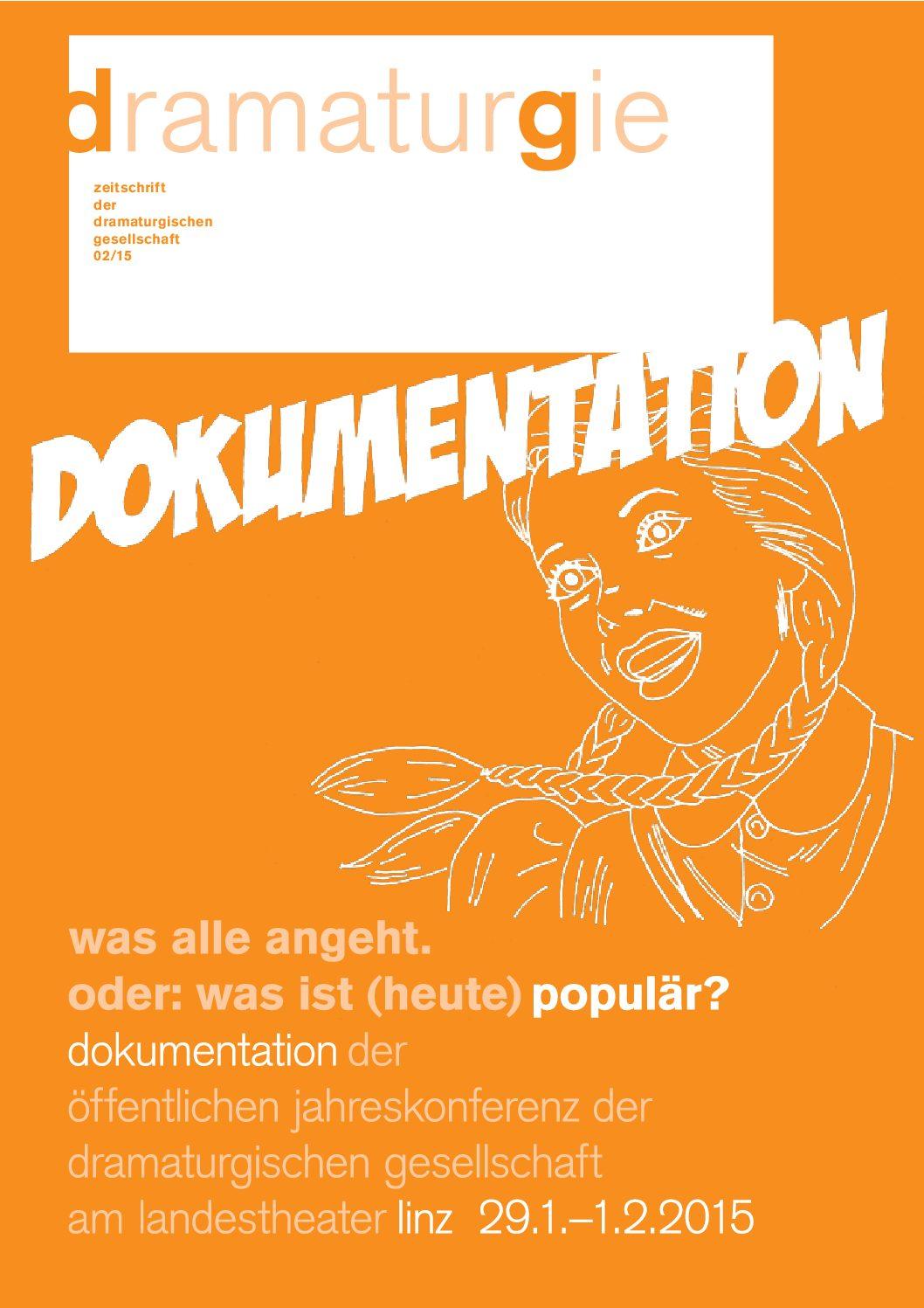Thumbnail zum PDF: Dramaturgie 2015/2<br /> Was alle angeht. Oder Was ist (heute) populär?<br />