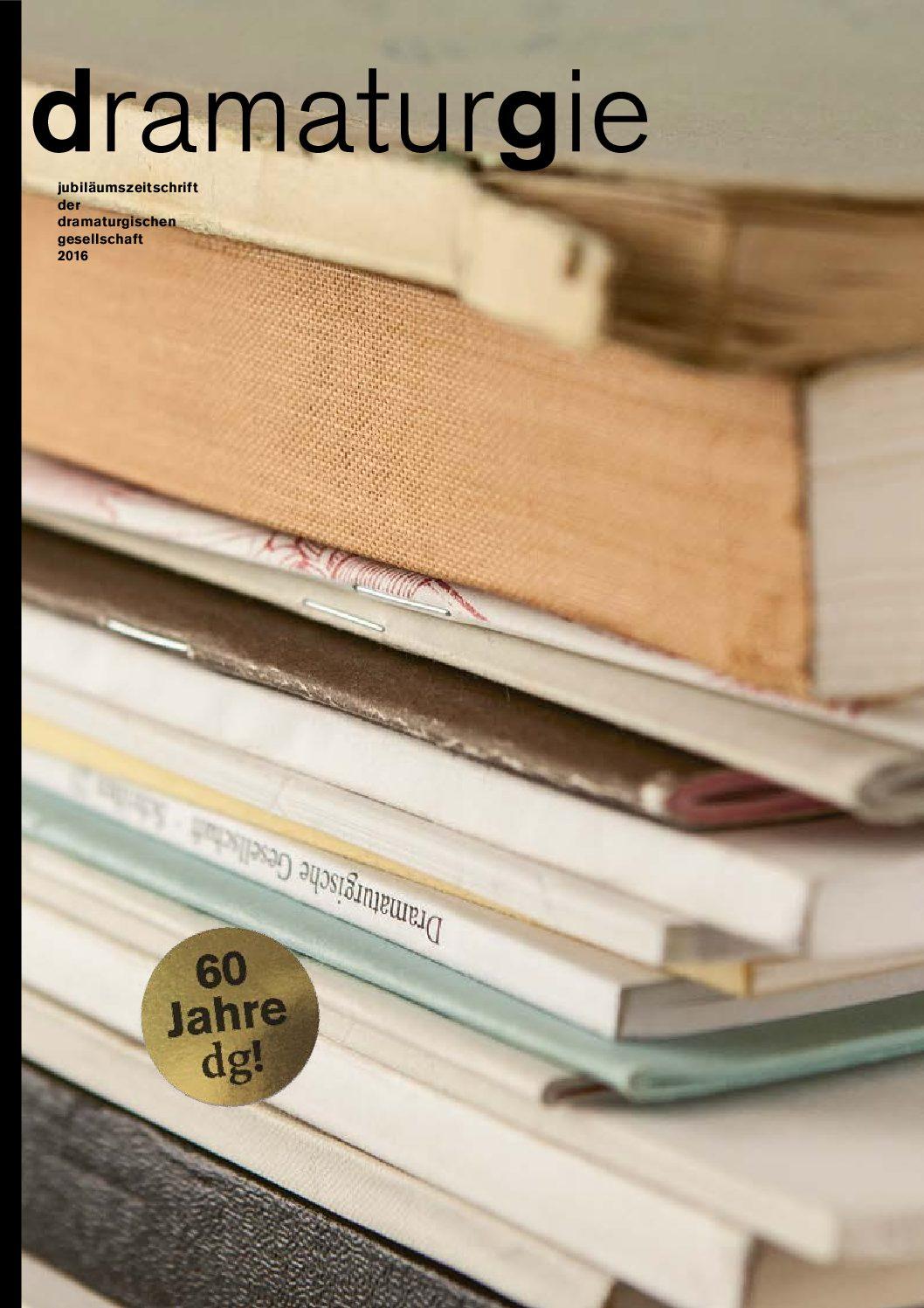 Thumbnail zum PDF: Dramaturgie 2016<br /> Jubiläumsheft 60 Jahre dg<br />